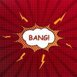 Comic speech bubble. Pop art vector illustration Stock Photos