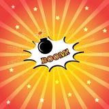 Comic speech bubble. Pop art vector illustration. Comic speech bubble with bomb. Pop art vector illustration Stock Photography