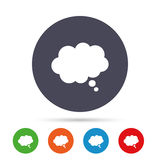 Comic speech bubble sign icon. Chat think symbol. Stock Photos