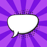 Comic speech bubble of talk crooked oval shape Stock Photos