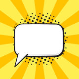Comic speech bubble of talk rectangular shape Royalty Free Stock Photography