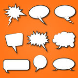 Comic Speech Bubble Vector. Set Speech Bubble for Comic etc Royalty Free Stock Image