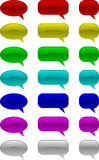 Comic speech bubbles Stock Photography