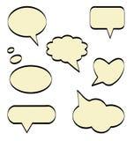 Comic speech bubbles Stock Image
