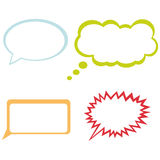 Comic speech bubbles Stock Images