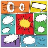 Comic speech bubbles Stock Photos
