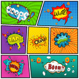 Comic speech bubbles background divided by lines vector Stock Photography