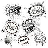 Comic speech bubbles black and white vector Stock Images