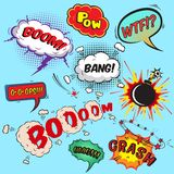 Comic speech bubbles design elements collection Stock Photo