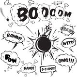 Comic speech bubbles design elements collection Royalty Free Stock Photos