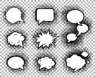 Comic speech bubbles icons collection Royalty Free Stock Photos
