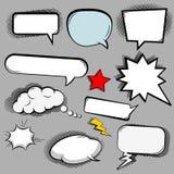 Comic speech bubbles icons Stock Photos