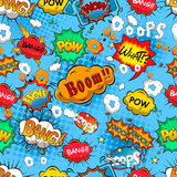 Comic speech bubbles seamless pattern stock illustration