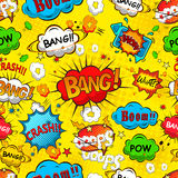 Comic speech bubbles seamless pattern Stock Photo