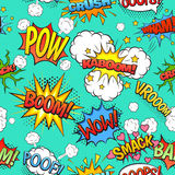 Comic Speech Bubbles Seamless Pattern Background Stock Images