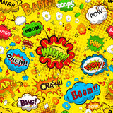 Comic speech bubbles seamless pattern  Royalty Free Stock Photos
