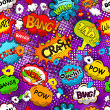 Comic Speech Bubbles Seamless Pattern Vector Stock Photography