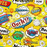 Comic speech bubbles seamless pattern vector royalty free illustration