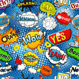 Comic speech bubbles seamless pattern vector Stock Photo