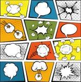 Comic Speech Bubbles Set Stock Images