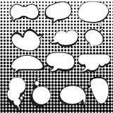 Comic speech bubbles set with halftone Stock Image