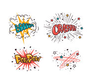 Comic speech bubbles set isolated on the white background, vector illustration. Royalty Free Stock Images