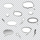 Comic speech bubbles. Set of comic speech bubbles with shadows Royalty Free Stock Photography