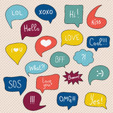 Comic speech bubbles set. Royalty Free Stock Photos