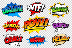 Comic Speech Bubbles Stock Photos