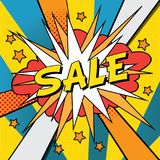 Sale pop art banner royalty free illustration
