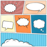 Comic speech bubbles vector background Royalty Free Stock Photos