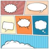Comic speech bubbles vector background vector illustration