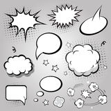 Comic Speech Bubbles. vector  Black and white Royalty Free Stock Photography