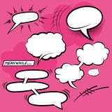 Comic Speech Bubbles Stock Image
