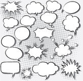Comic speech bubbles stock illustration