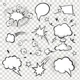 Comic Speech Bubbles. vector illustration. Royalty Free Stock Photos