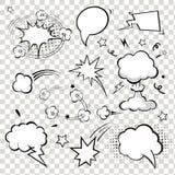 Comic Speech Bubbles. vector illustration. Royalty Free Stock Photos
