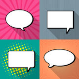 Comic speech bubbles,Vector Illustration Stock Photos