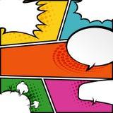 Comic speech bubbles,Vector Illustration Royalty Free Stock Image