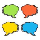 Comic speech bubbles. Vector illustration royalty free illustration