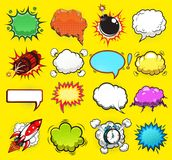 Comic speech bubbles vector Stock Photo
