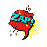 Comic Speech Chat Bubble Pop Art Style Zap Expression Text Icon. Vector Illustration Stock Photos