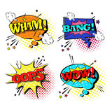 Comic Speech Chat Bubble Set Pop Art Style Sound Expression Text Icons Collection stock illustration