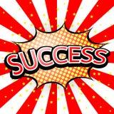 Comic Speech Red Bubble success vector illustration