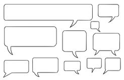 Comic Speech Text Vector Bubbles Set03. Set03 of vector speech text bubbles Stock Images