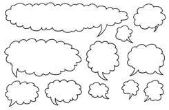 Comic Speech Text Vector Bubbles Set04. Set04 of vector speech text bubbles Royalty Free Stock Images