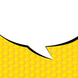 Comic speech vector on yellow Royalty Free Stock Image