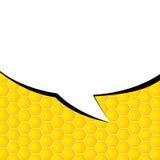 Comic speech vector on yellow Royalty Free Stock Image