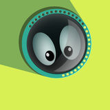Comic spying  Eyes. Eyeballs vector. Staring - Stock Photography