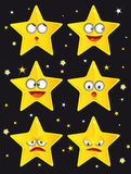 Comic stars. A set of comic stars Stock Image